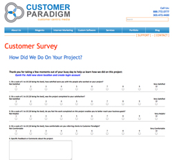 Customer Paradigm Reviews - Survey Feedback System