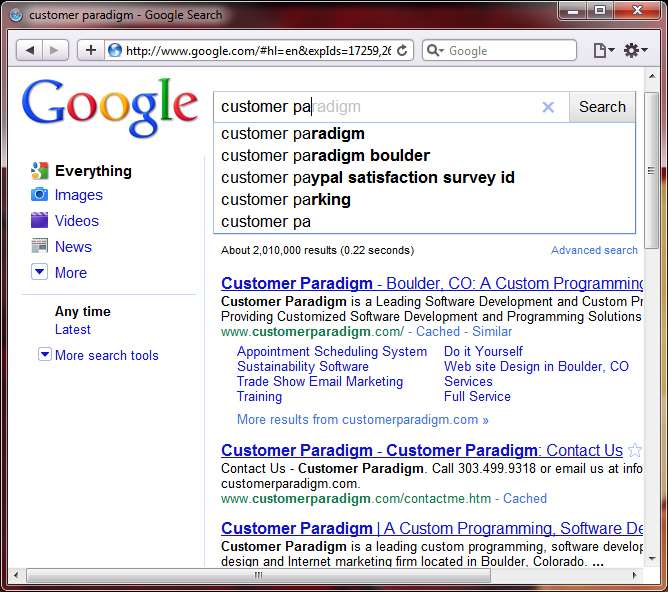 Google Search: Google Instant Search