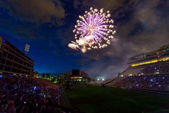 Fireworks over Boulder, Colorado