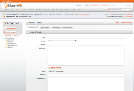 Magento Go Categories Structure for Migration