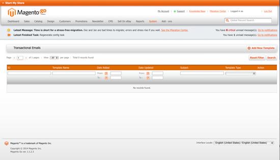 Magento Go - Transactional Emails for Migration