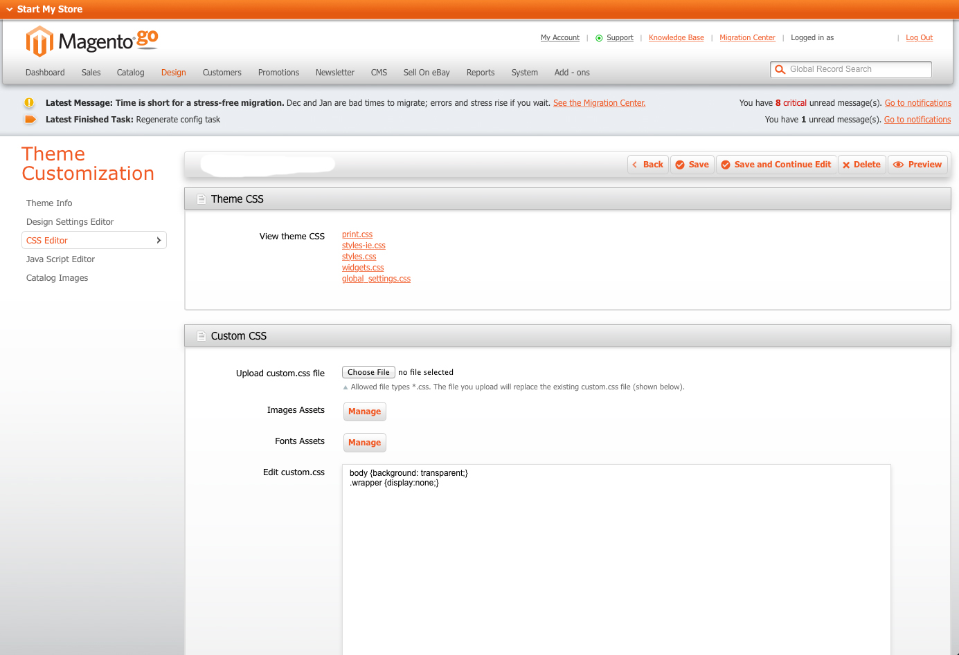 Migrating from magento go to magento community customer for Magento community templates