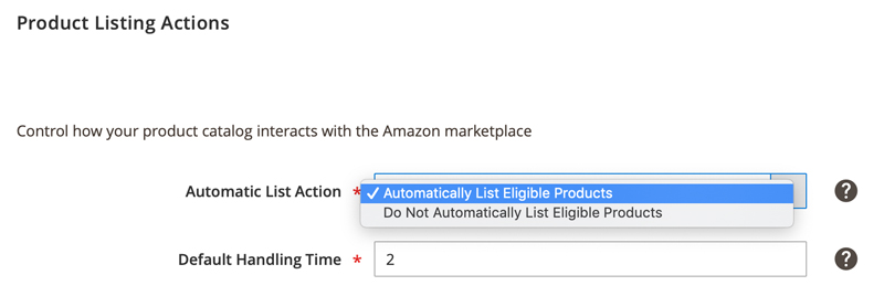 Automatically Listing Product options on Amazon Third Party Marketplace
