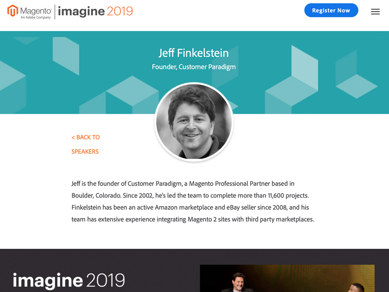 Jeff Finkelstein - Featured Speaker at Imagine