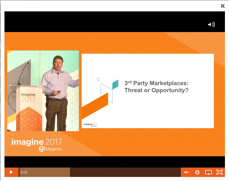 Jeff Finkelstein - video of speaking at Magento Imagine