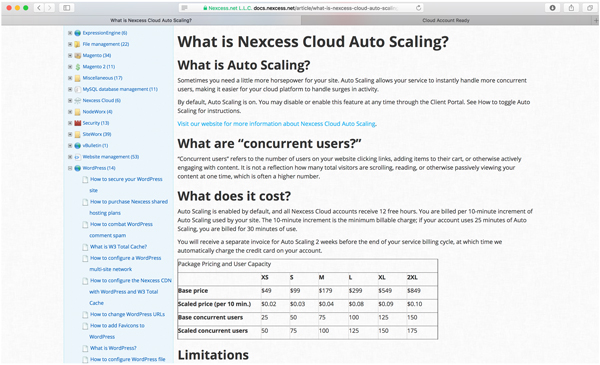 What is Nexcess Cloud Atupo Scaling - Costs