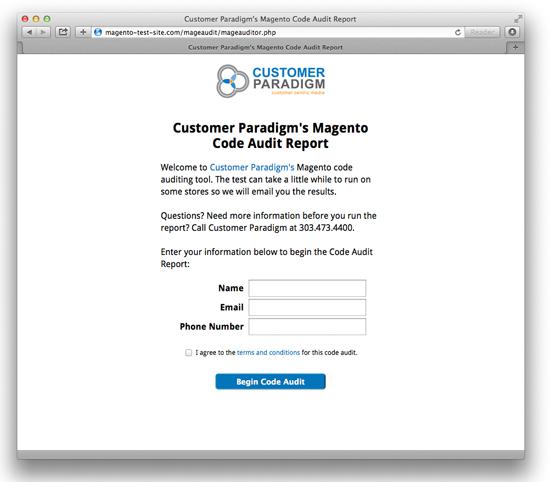 Magento Code Audit - Visit in Browser