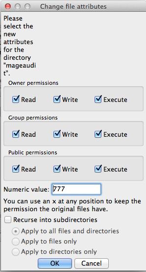 Give Directory Proper CHMOD 777 Folder Permissions