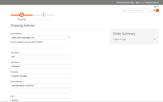 Magento 2 – Proceed to Checkout Page