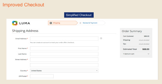 Magento 2.0 Simplified Checkout Process