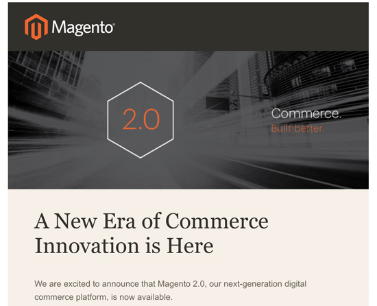 Magento 2.0 - Announcement Email from Magento