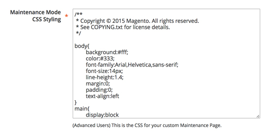 How to apply custom CSS styling to your maintenance mode page in Magento 2.0