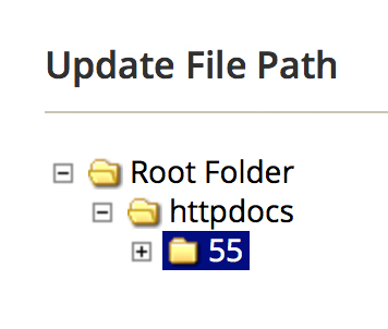 Update File Path from Root Folder