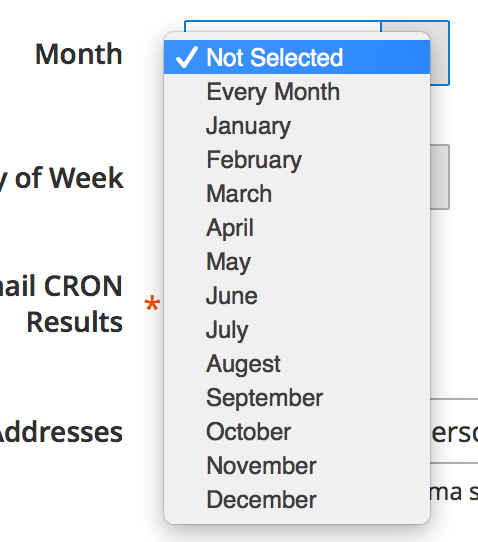 Month - Set Cron to run for Inventory Synch in Magento 2.0