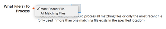 What files to process for inventory synchronization.