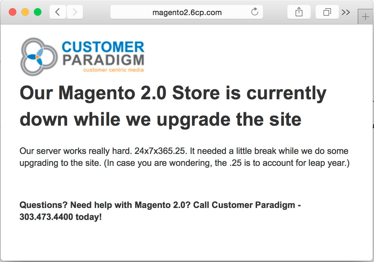 How to create a custom maintenance mode page in magento 2 for Maintenance mode html template