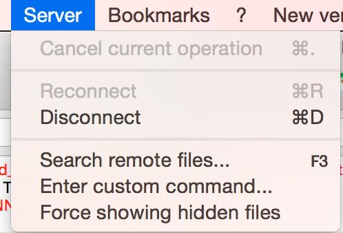 How to show hidden files in FileZilla - Screenshot.