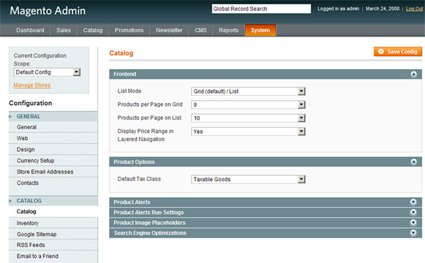 Magento Community eCommerce Manage Catalog