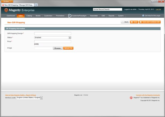 Gift Wrapping System - Built In to Magento Enterprise