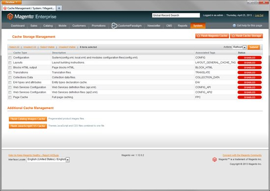 Magento Enterprise - Full Page Caching - Click for Screenshot