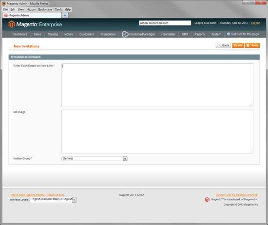 Private Sale - Email Invitation for Magento Enterprise Customers