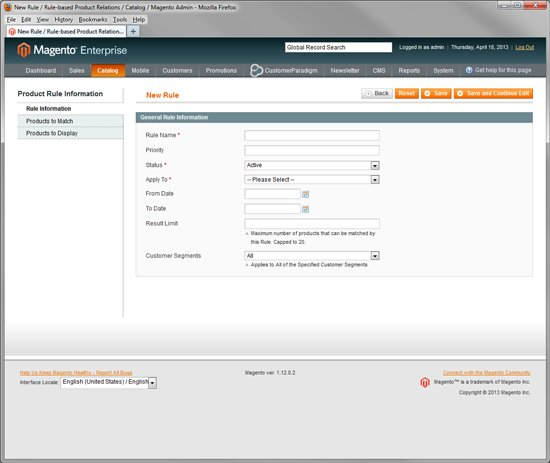 Magento Enterprise - Rule Based Upsell - Cross Sell with Magento Enterprise
