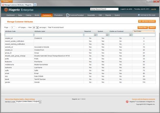 Manage Customer Attributes in Magento Enterprise