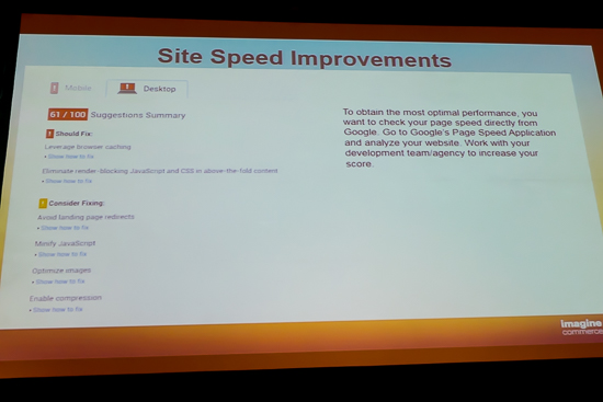 Site Speed Improvements
