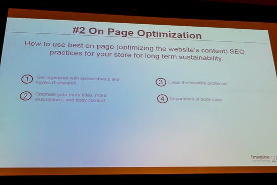 #2 on page optimization