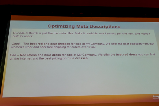 Optimizing Meta Descriptions