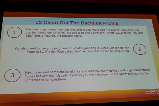 Clean Out Backlink Profile