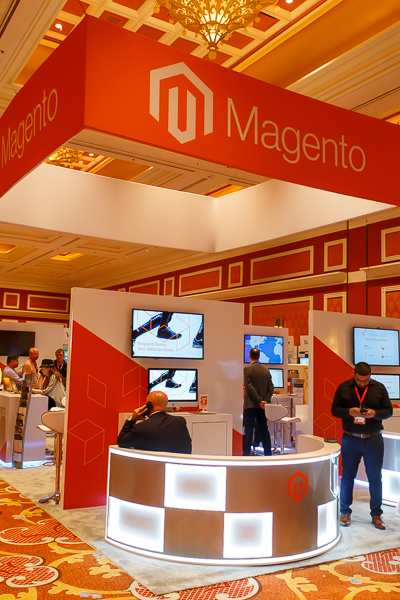 The Magento booth: