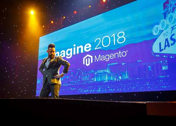 Phillip Jackson - rising out of the stage at Magento Imagine.