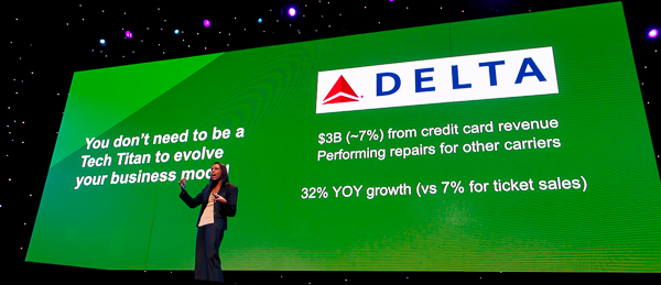Delta Airlines makes 7% of their revenue from branded credit cards
