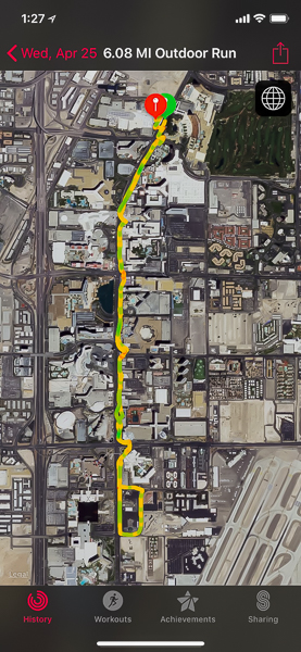 6.2 mile run in Las Vegas