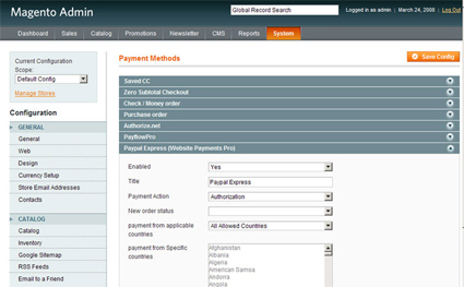 Programming Magento eCommerce with Credit Card and Checkout Options