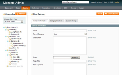 Magento eCommerce - Programming Category Information