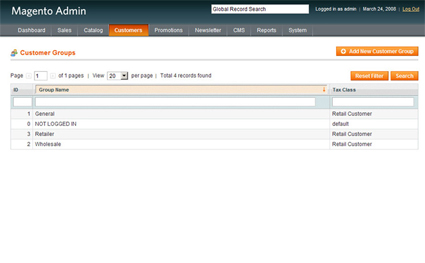 Magento - Customizing Customer Groups
