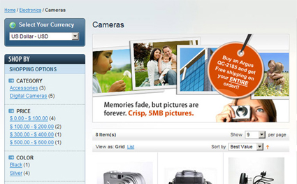 Magento Product View Example - click to view larger image