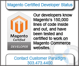 Magento Certified Developers Customer Paradigm