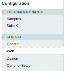 Magento Configuration Web for Cookie settings