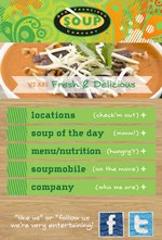 San Francisco Soup Company Mobile Website