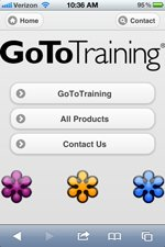 Go To Training Mobile Website