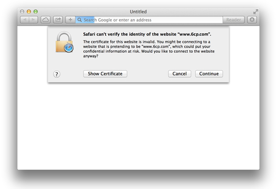 SSL Warning for non-https session