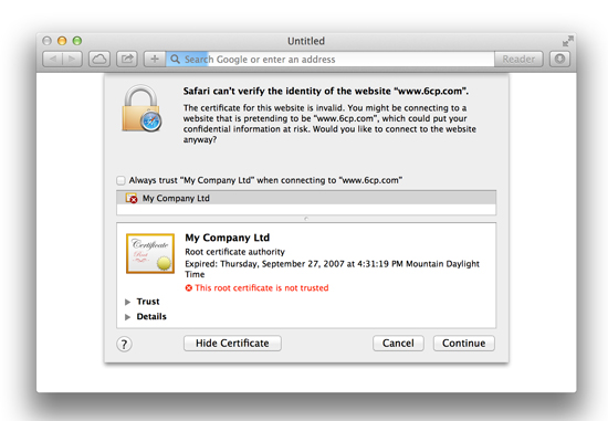 SSL Detailed Certificate