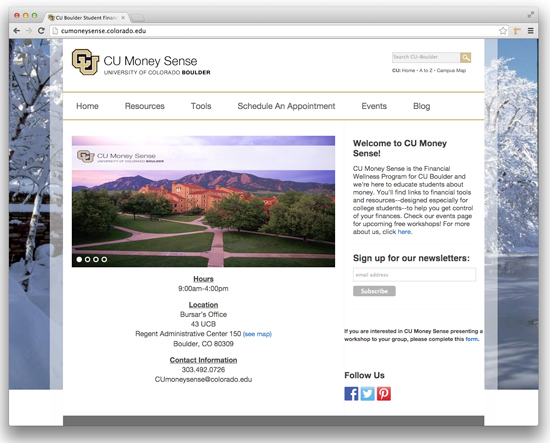 CU Money Sense Site
