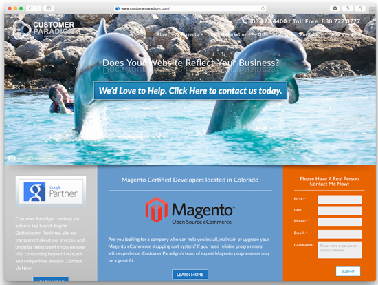View live version of our themo-responsive site - Beach Version >>