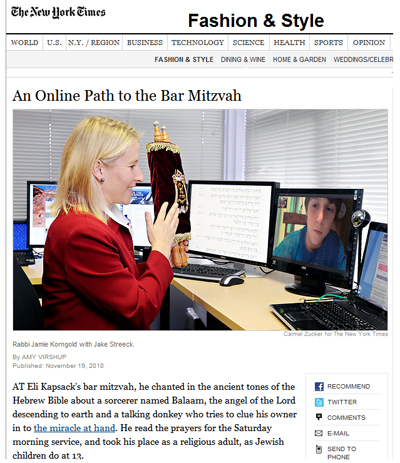 An Online Path to the Bar Mitzvah