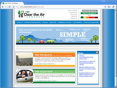 Clear the Air TN Wbsite
