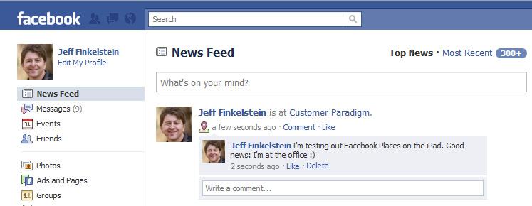 Facebook Places | Social Media Influence | Facebook ...
